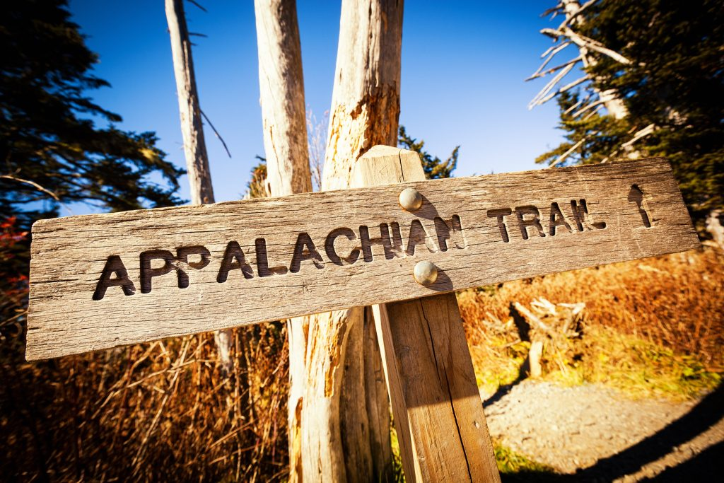 The Appalachian Trail thru-hike sign