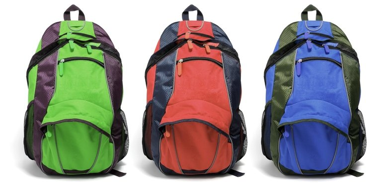 different color backpacks