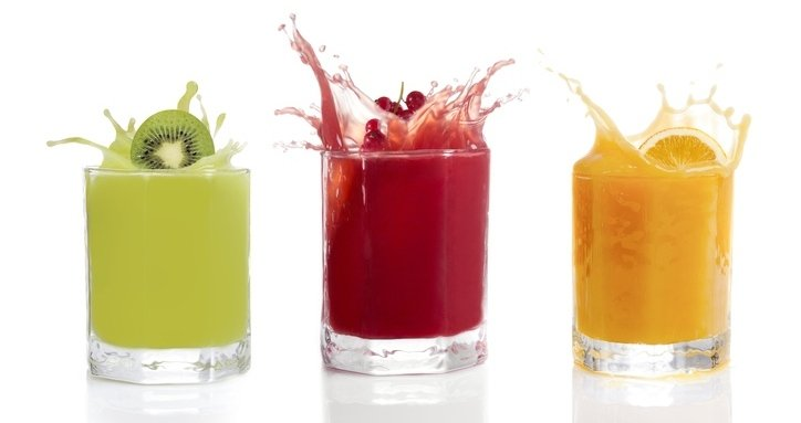 fruit juice in glasses