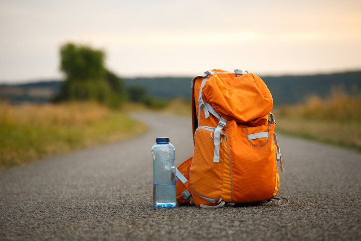 water bottle with backpack