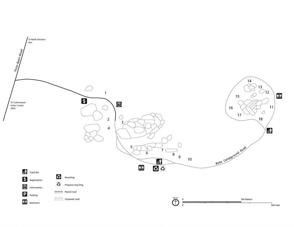 Belle Campground map