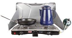 Coleman Gas Stove Triton + Portable Propane Gas Camp Stove