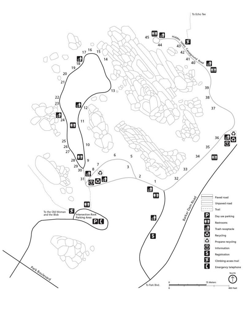 Hidden Valley Campground map