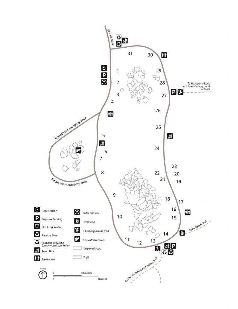 Ryan Campground map