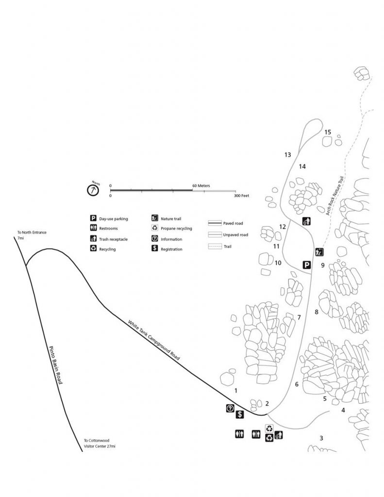 White Tank Campground map