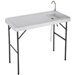 Goplus Portable Folding Table with Sink
