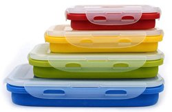 OSAYES Silicone Food Storage Containers with Lids