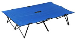 Outsunny Two Person Double Wide Folding Camping Cot