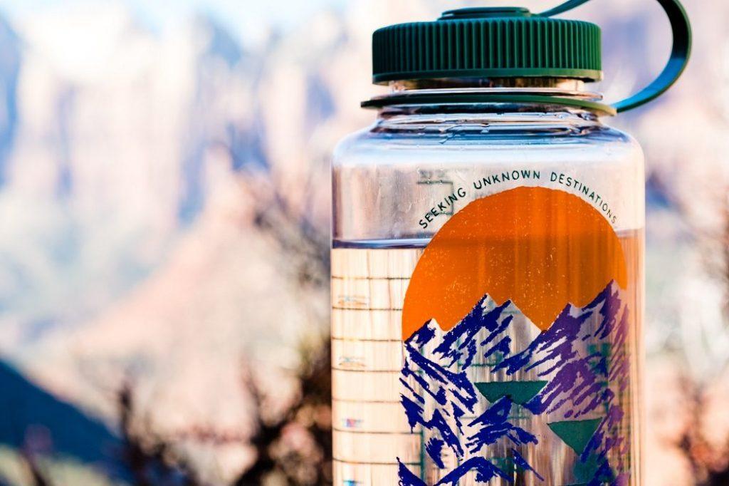 water bottle hiking