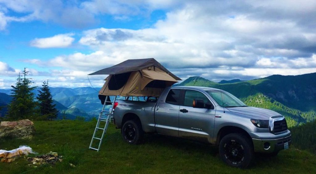Tent on truck
