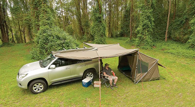 used with a rooftop tent